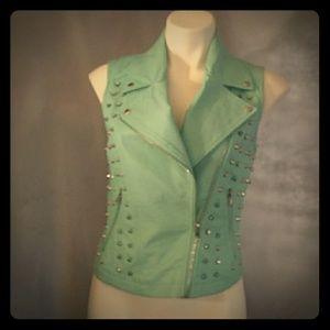 Turquoise studded vest